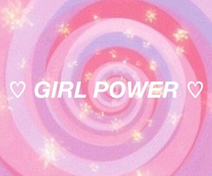girl power, pink, and aesthetic image