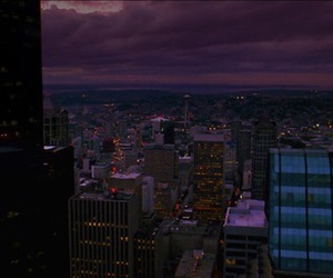 city, purple, and theme image
