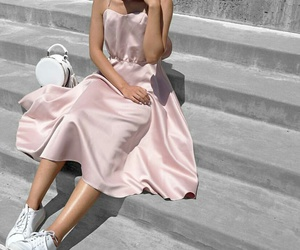 fashion trends, white sneakers, and girly outfit image
