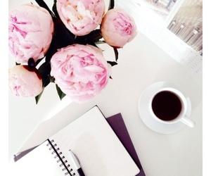 coffee, desk, and homework image