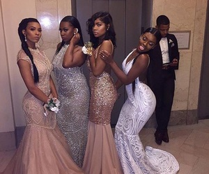 Prom, dress, and beauty image