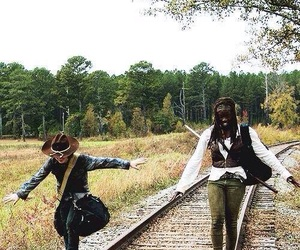 michonne, the walking dead, and twd image