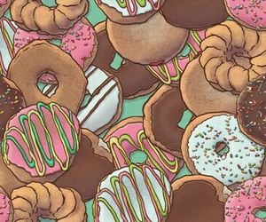 donuts, wallpaper, and food image