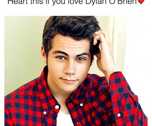 heart, dylan o brien, and love image