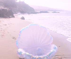 beach, pearls, and sea image
