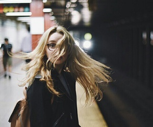 blonde, hair, and train image