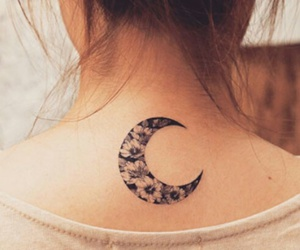 beautiful, crescent, and tattoo image