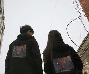 kfashion, korean, and asian couple image
