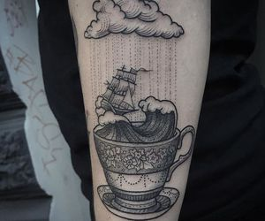 tattoo and clouds image