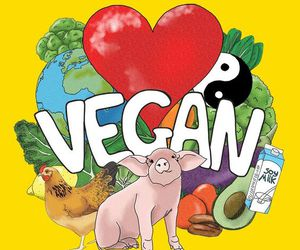 animal and vegan image