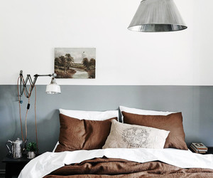 bedroom, concrete, and pillow image