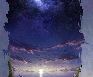 painting and stars image