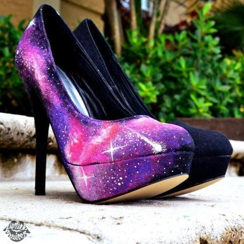 galaxy, shoes, and heels image