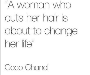 hair, coco chanel, and quote image