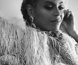 beautiful, black and white, and beyoncé image