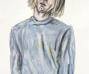 nirvana, art, and cobain image