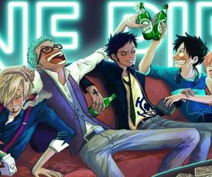 chopper, luffy, and Law image