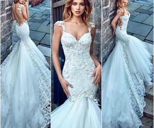 fashion, gown, and wedding image