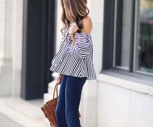 denim, stripes, and chocker image