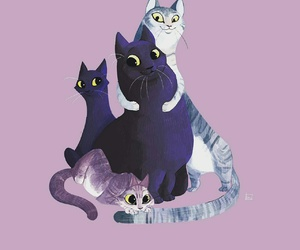 cat, illustration, and mycats image