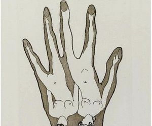 art, illustration, and hand image