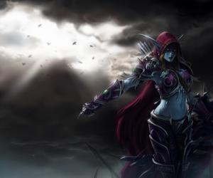 lady, sylvanas, and warcraft image