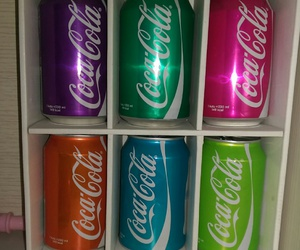 blue, cocacola, and green image
