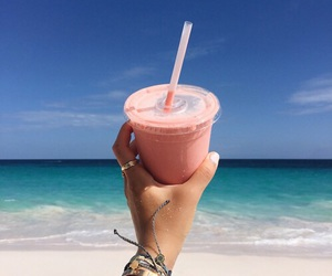 beach, drink, and smoothie image