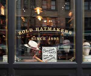 hat, shop, and vintage image