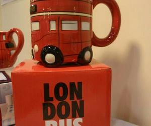 mug, bus, and london image