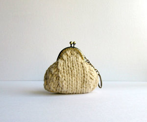 knitted, coin purse, and spring image