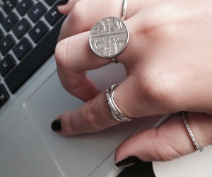 coin, elegant, and ring image