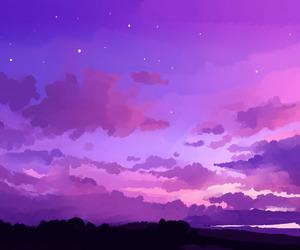 aesthetic, art, and purple image
