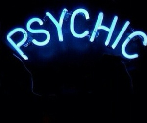 psychic, light, and neon image