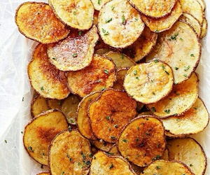 food, chips, and potato image