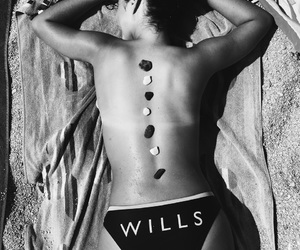 back, black and white, and summer image
