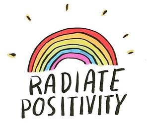 rainbow, positive, and positivity image