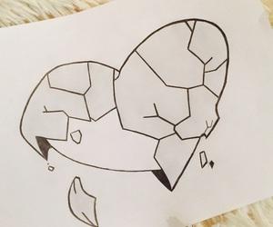 art, brokenheart, and drawing image