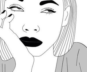 black&white, outline, and trasparent image