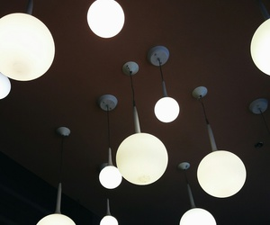 bright, bulb, and cafe image
