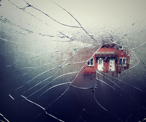 photography, broken, and glass image