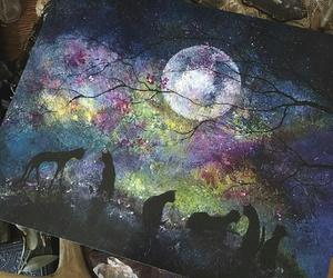 cats moon draw art image