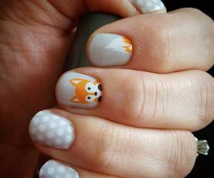 fox, nails, and pretty image
