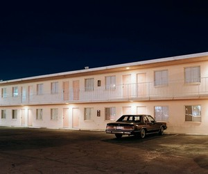 motel, aesthetic, and car image