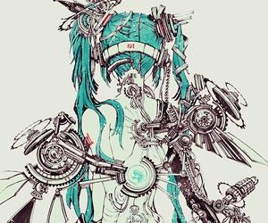 miku, robot, and hatsune image