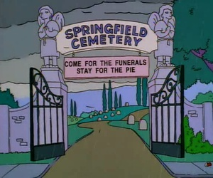 cemetery, simpsons, and the simpsons image