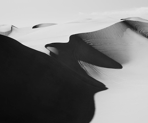 b&w, beautiful, and dunes image