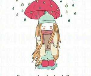 kiss in the rain, rain, and rainy image