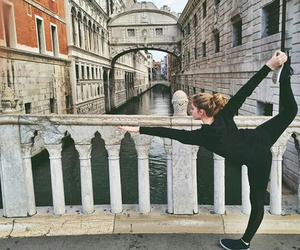 italy, yoga, and venice image