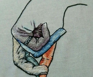 art, colorful, and embroidery image
